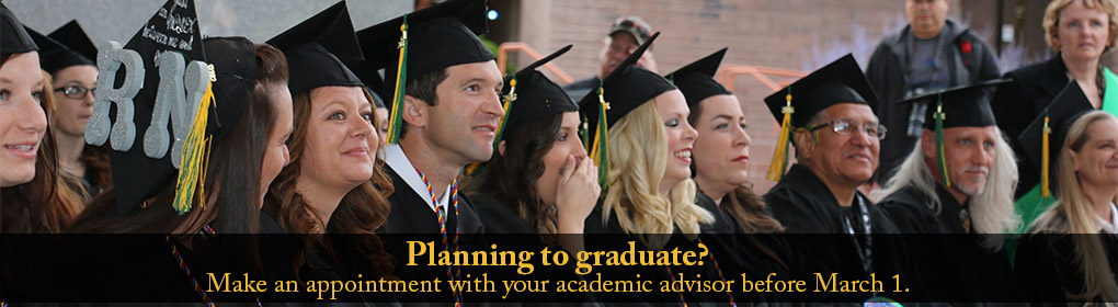 Planning to Graduate - Meet with your advisor first