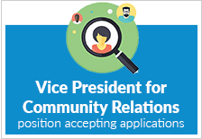 VP for Community Relations: Now Hiring
