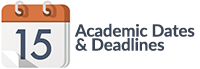 Academic Dates & Deadlines
